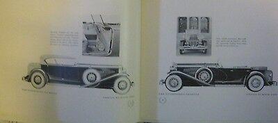 * Duesenberg Brochure Sj 320 Phaeton Tourster - English - 80´s Reprint *