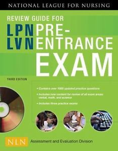 Review Guide For Lpn Lvn Pre Entrance Exam By National League Nursing National League Nursing 2008 Paperback Revised