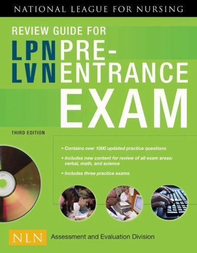 review guide for lpn/lvn pre-entrance exam by national league ...