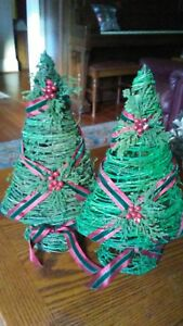 Pier One Christmas Trees.Details About Lot Of 2 Pier One Imports Wire Christmas Trees