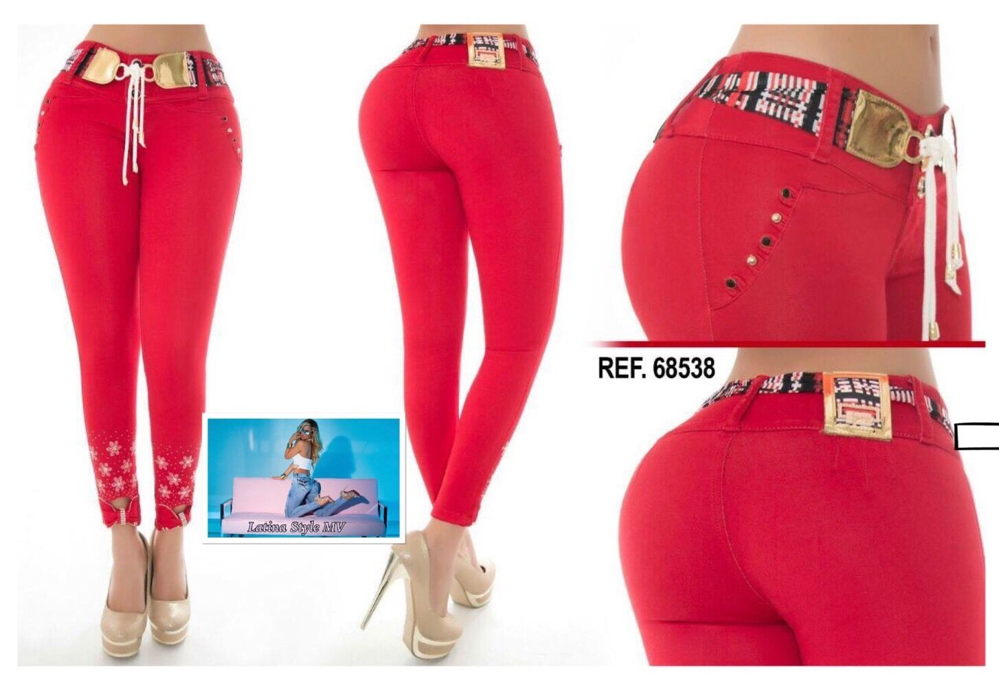 Colombian Butt Lift Imported Jeans Size 1 2,3 4,5 6 USA