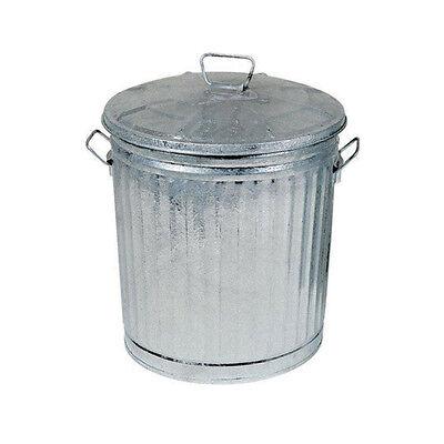 Bidone in alluminio zincato contenitore pattumiera secchio 18LT coperchio 211/15