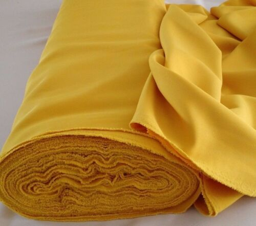 "Gabardine 100/% Polyester 60 to 62/""wide  Free swatches. Yellow P"