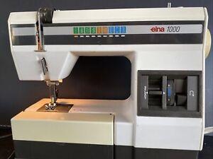 Elna 1000 Vintage Sewing Machine LIGHTWEIGHT PORTABLE Mechanical. Working