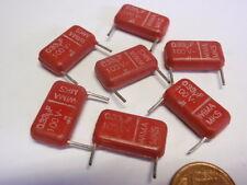 Condensador nostalgia Wima MKS 330nf (0,33µf) 100v = 17x10x5mm 7x 25624