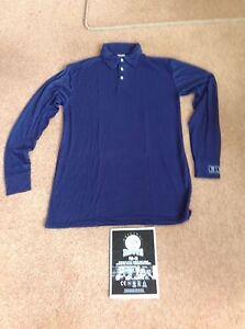 e71f105728cf Roots Flame Retardant Men s Long Sleeve Polo Shirt - Navy Blue