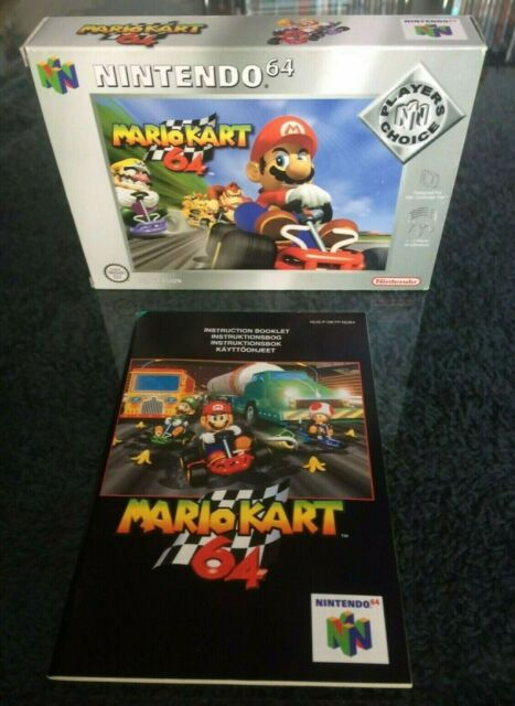 MARIO KART 64 EMPTY BOX & INSTRUCTIONS ONLY NO GAME INCLUDED N64
