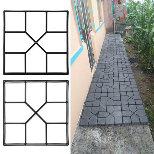 Plastic Paving Cement Brick Mould DIY Personalized Concrete Stepping Road Mold