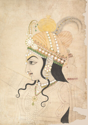 Head of Krishna India Drawing Reproduction Fine Art Print