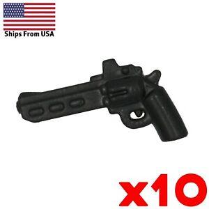 LEGO-Guns-Revolver-Pistol-Handgun-Scoped-Lot-of-10-Army-Military-Weapon-Pack