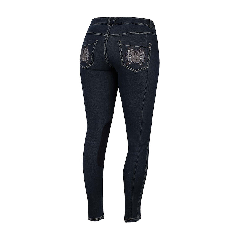 Irideon Royal Crest Denim Knee Patch Breech-28-Navy