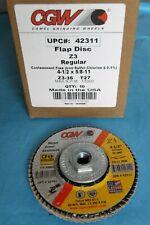 """3pcs 4-1//2/"""" x 7//8 Zirconium Z3 40 Grit CGW Double XXL Type 27 Flap Disc USA"""