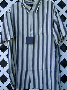 NWT big /& tall SHIRT BY SQ WEAR U pick size $80+valu IVORY STRIPE office wear