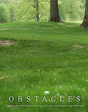 Golfing Motivational Poster Art Print Golf Balls Shoes Clubs Tiger Woods  MVP286