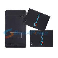 2x 3080mAh battery+Wall Charger For Samsung Galaxy S4 Mini i435 i257 L520 R890
