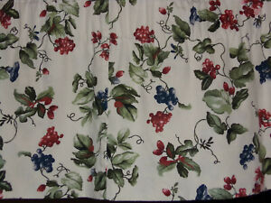 WAVERLY-ORCHARD-TRAIL-BERRY-FLORAL-RED-BLUE-GREEN-VALANCE-78-034-X-16-034