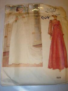 WOMENS-CUT-VOGUE-Sewing-Pattern-1924-BRIDAL-WEDDING-GOWN-VEIL-DRESS-SIZE-8