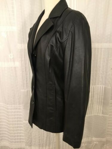 Leather Small Chadwick's Jacket Women's Black Soft Størrelse Buttery wvw81