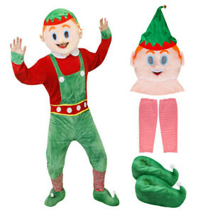 Adult Mascot Head Mask Padded Christmas Xmas Fancy Dress Unisex