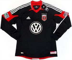 DC UNITED (2XL&XL) PLAYER ISSUE HOME 2012/13 BLACK ADIDAS LG/S SHIRT JERSEY BNWT