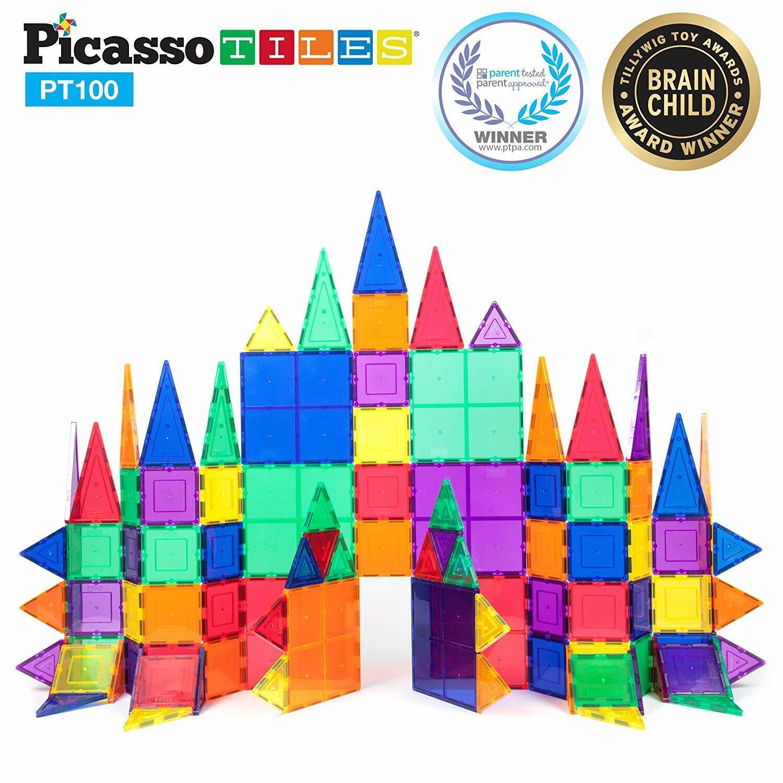 3D magnético edificio Azulejos formas geométricas vástago 100Pc Set Juguete educativo
