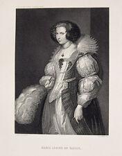 Antonis van Dyck Antwerpen Marie-Louise de Tassis Porträt Mode Kleid Kragen Dame