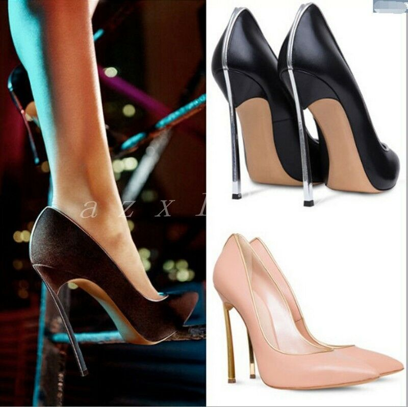 Sexy Women's Leather Formal Dress Dress Formal OL Stiletto 5 Colors Slip On Satge Party Shoes 08e6bb