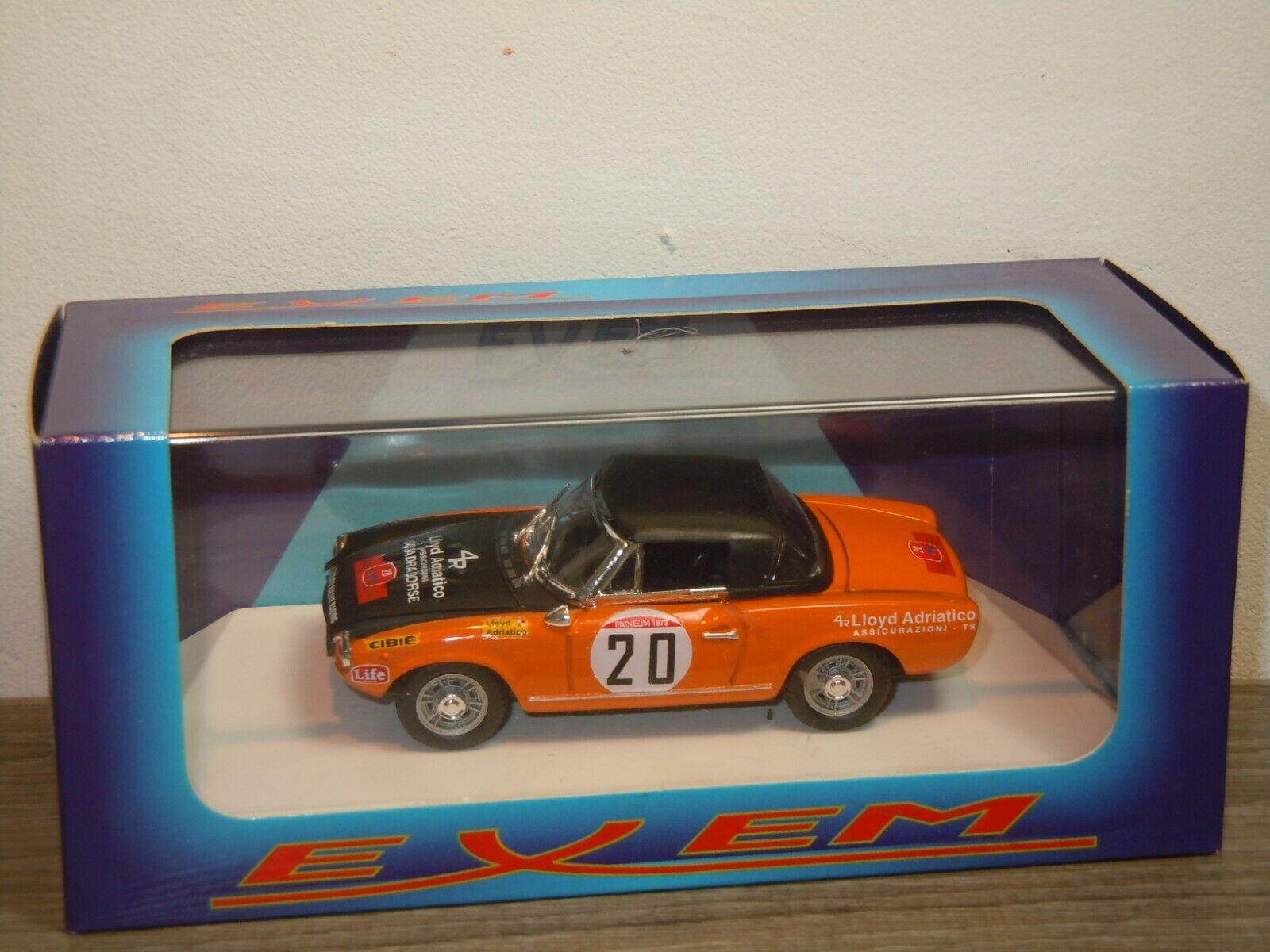 Fiat 124 Sport Spyder 1800 Rally Elba '73 - Exem EX2002  1 43 in Box 37211