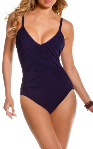 Magicsuit Miraclesuit Shirred Solids Roxy One Piece Swimsuit sizes 16 /& 18