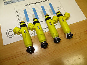 4x-OEM-Mazda-RX-8-Denso-Yellow-Fuel-Injectors-Flow-Tested-amp-Cleaned