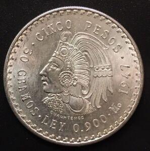 Mexico-5-Pesos-1947-Silver-Coin-900-Silver-Better-Grade-Low-Mintage