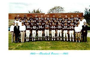 1960-CLEVELAND-BROWNS-TEAM-8x10-PHOTO-JIM-BROWN-DAWSON-FOOTBALL-NFL-AFL