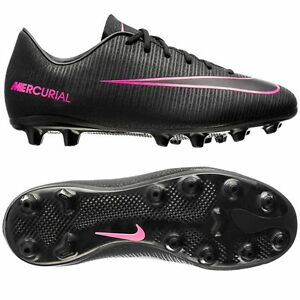 f3309e502cc Nike Mercurial Vapor XI FG 2016 Soccer Shoes Pitch Black   Pink Kids ...