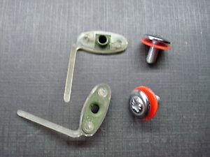 2 pcs GM vinyl top door body side trim belt moulding clips /& washer screws NORS