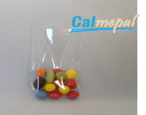 50 x clair écran violoncelle sacs pour lollipops, gâteau POP, bonbons 3 x5