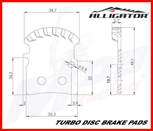 Nº 18 Alligator Turbo Plaquette De Frein Pour Shimano NEUF AR
