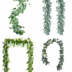 Artificial-Plants-Flower-Greenery-Garland-Vine-Faux-Silk-Vines-Leaf-Wreath-Deco