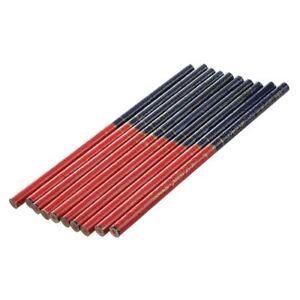 SHAN-CHENG-PAI-10-pezzi-Matita-rossa-Blu-Graphite-piombo-da-6-9-034-per-carpen-D4D8