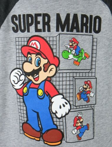 Super Mario Boys T-Shirt Officially Licensed Yoshi Gray Jumping Beans
