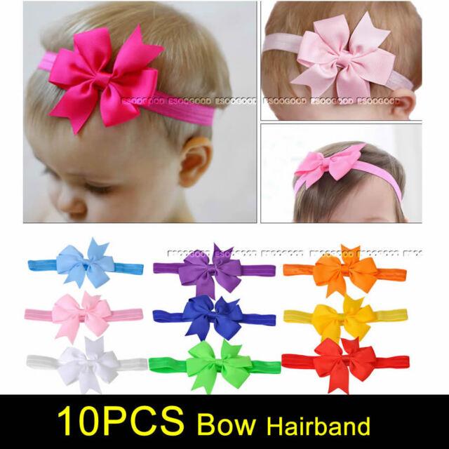 Elastic Baby Headdress Kids Hair Band Girls Bow Newborn Headband
