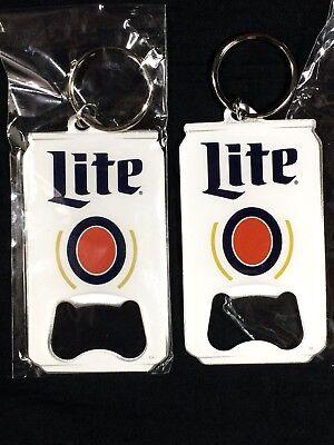 2 Miller Lite Bottle Opener Keychains Beer Can Shape New