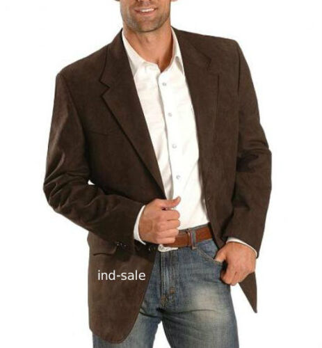 Custom Tailor Made All Size Genuine Suede Leather Blazer Coat Jacket Party
