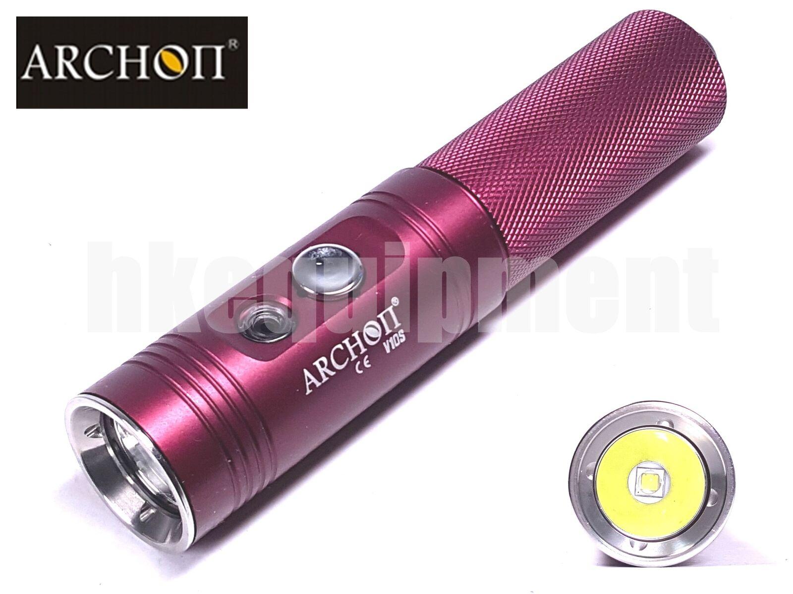 Archon V10S Cree XM-L2 U2 Scuba Diving LED 18650 860lm Torch Red
