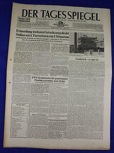 Inquiet Le Miroir Du Jour 4.3.1973: Assassinat Autre Otages Menacé-afficher Le Titre D'origine Qualité Et Quantité AssuréE