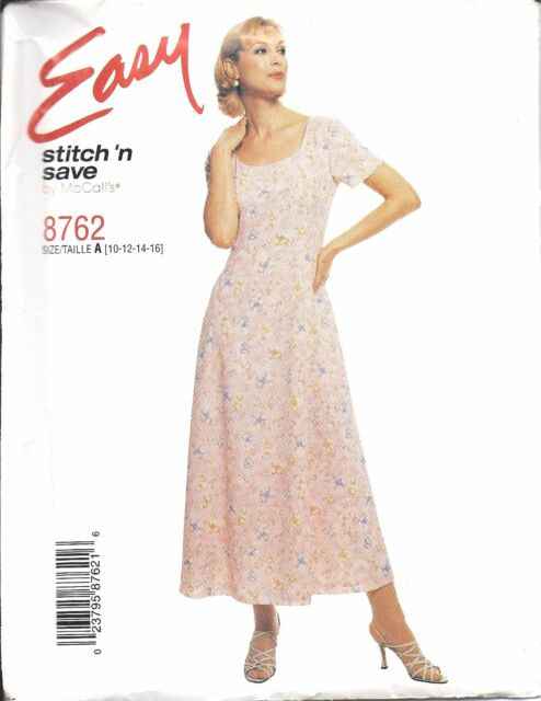 8762 UNCUT Vintage McCalls Pattern Misses Pullover Dress SEWING Easy Princess FF