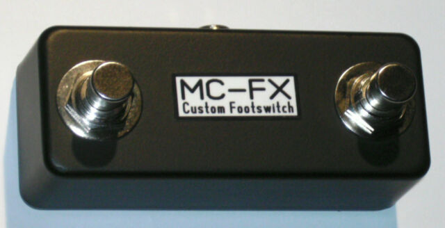 MC-FX Dual Momentary N/C Footswitch suits RC-30 & others & TRS Lead