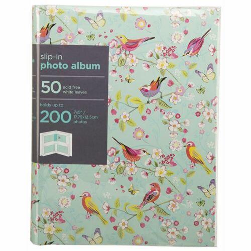 """Whsmith melodía Turquesa Slip-en caso de álbum encuadernado 50 Hojas sostener 200 fotos 7x5/"""""""
