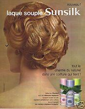 Publicité Advertising 056 1965 Sunsilk laque souple