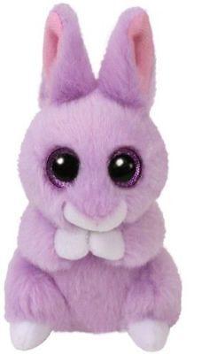 Ty Glubschi's Beanie Boo's Coniglio @ Aprile @ Viola, Per Pasqua 10 Cm Nuovo 2018- Dolorante