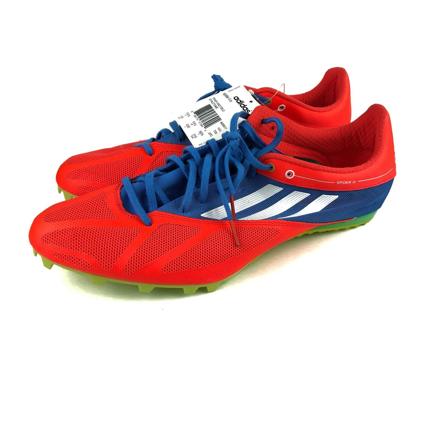 NEW Adidas Spider Spikes Running Shoes 4 M Orange Blue Green Track And Field 15 Seasonal price cuts, discount benefits